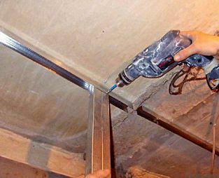 Как сделать короб из профилей на потолок